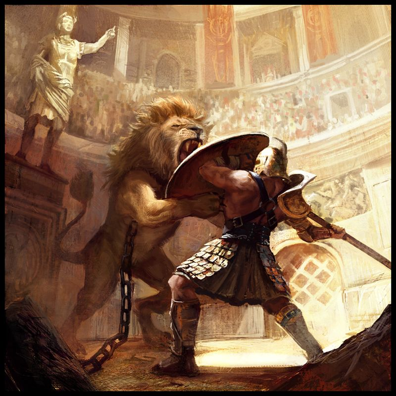 Gladiatorvslion